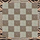 brown and beige patchwork quilt by gameover