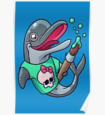 Artistic Dolphin 2 Poster