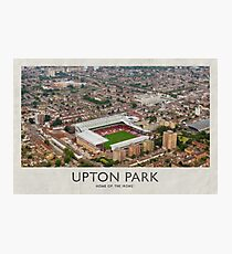 Vintage Football Grounds - Upton Park (West Ham United FC) Photographic Print
