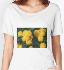 Top view of bloom dandelions. Women's Relaxed Fit T-Shirt