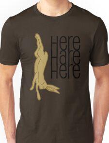 here hare here Unisex T-Shirt