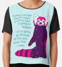 """Blusa """"Sentirse preocupado no significa que algo malo vaya a suceder"""" Galaxy Red Panda"""