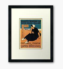 Vintage 1895 Boston, Holland art festival Framed Print