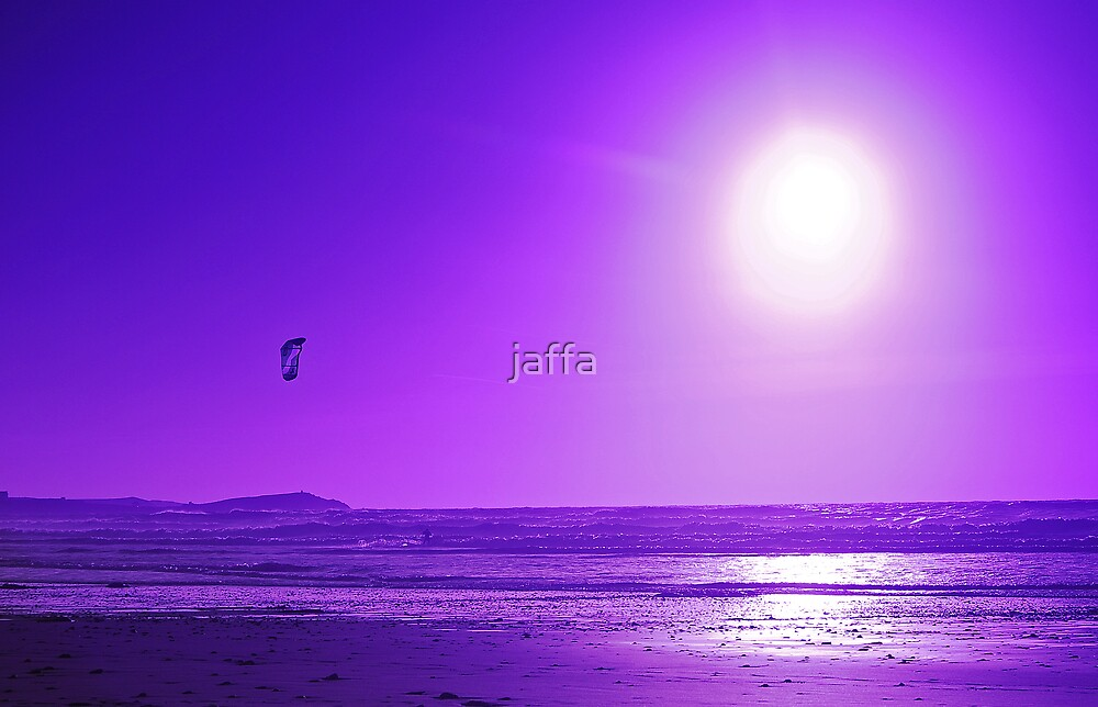 purple kite surfer by jaffa