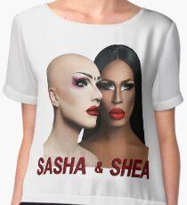 sasha and shea Chiffon Top