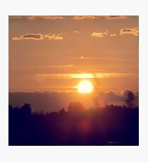 Sunset & Clouds Photographic Print
