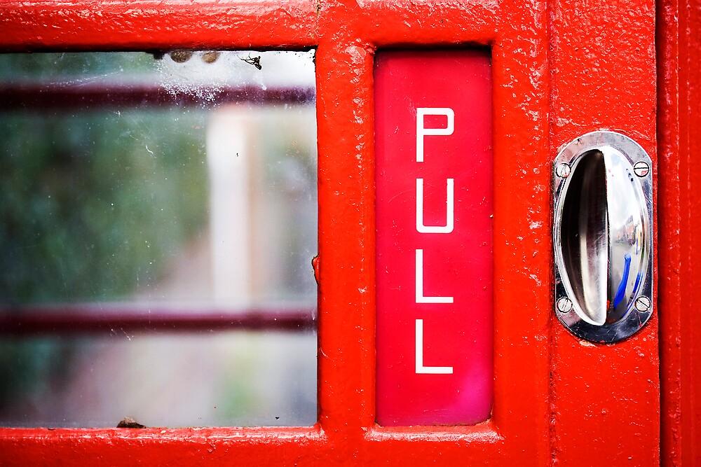 Red PhoneBox Door by richie5um