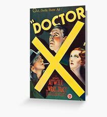 Doctor X 1946, vintage movie poster Greeting Card
