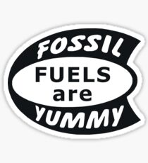 Fossil Fuels are Yummy Vintage Sticker
