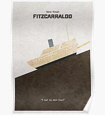 Fitzcarraldo Alternative Minimalist Poster Poster