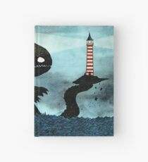 Sea monster & Lighthouse Hardcover Journal