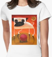 Pug dog art - 2006_may10a - by David King Women's Fitted T-Shirt