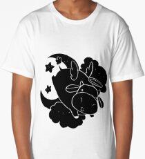 Angel Cow - Black Color Long T-Shirt