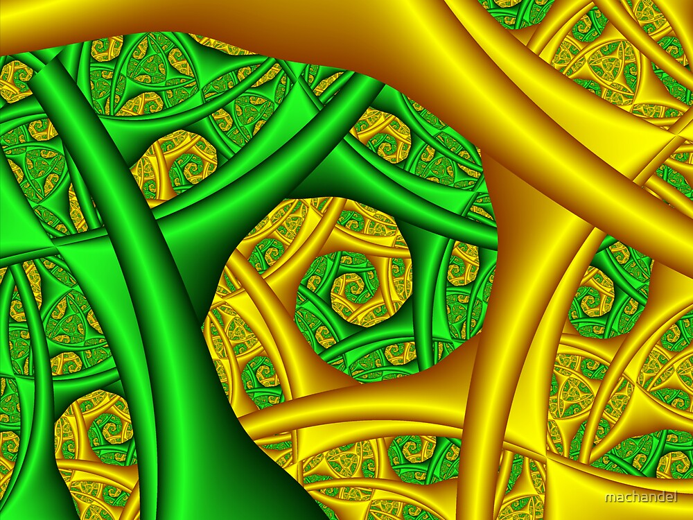 Green Gold Spiral by machandel