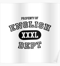 English Department Property Poster