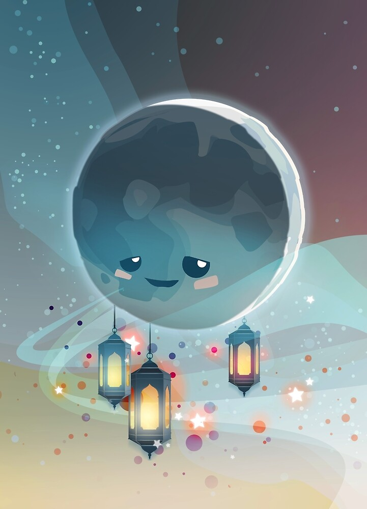 Lantern Moon (Ramadan Kareem) von Daniela  Illing