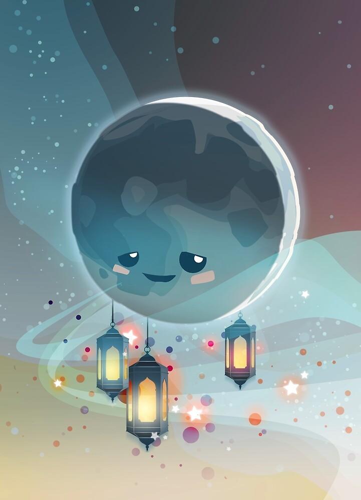 Lantern Moon (Ramadan Kareem) von Atelier Eyeling