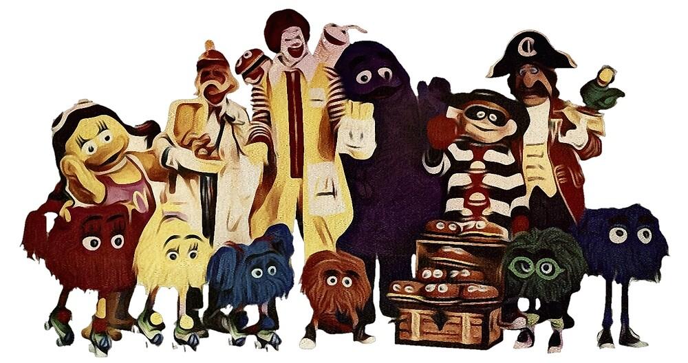 McDonalds klassische Charaktere von RainbowRetro