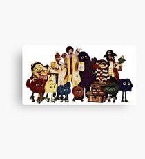 McDonalds classic characters Canvas Print