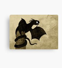 Watchtower Dragon Canvas Print