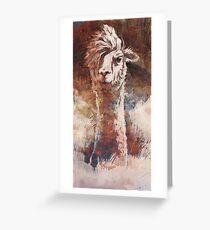 Artsy Llama Grußkarte