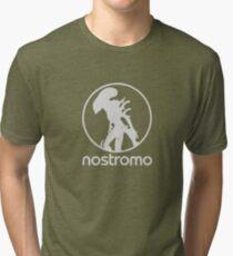 NOSTROMO - ALIEN XENO XENOMORPH MOVIE LOGO Tri-blend T-Shirt