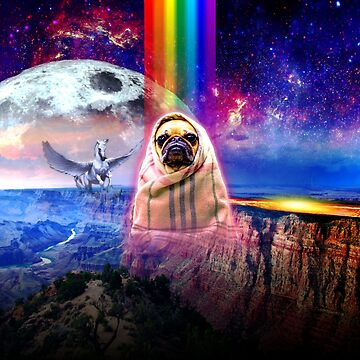 Space pug, I come in peace dog by TICS