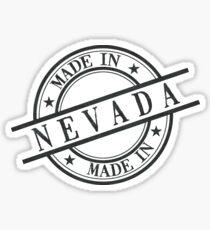 Made In Nevada Stamp Style Logo Symbol Black Sticker
