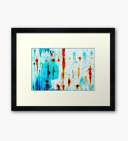 Blue with rust Framed Print