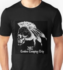 Conlon Camping Trip- White on Black T-Shirt