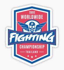 1991 Worldwide Fighting Championship Sticker