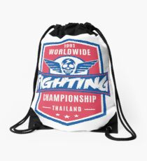 1991 Worldwide Fighting Championship Drawstring Bag