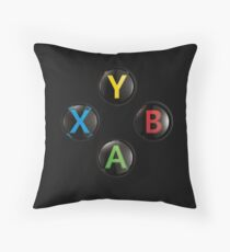 Xbox One Buttons 4K Throw Pillow