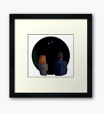 UFO Watching Framed Print