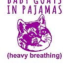 Heavy Breathing Cat Meme Loves Baby Goats in Pajamas by electrovista