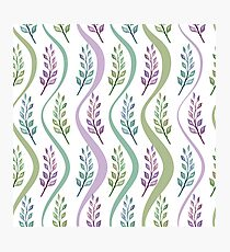 Watercolor Twig Pattern Photographic Print