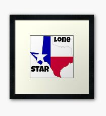 Texas: the lone star Framed Print