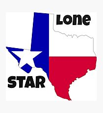Texas: the lone star Photographic Print