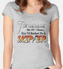 Princesses are OK, I guess... Women's Fitted Scoop T-Shirt