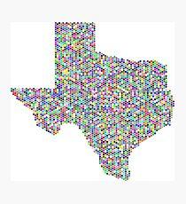 Texas flag-colorful Photographic Print