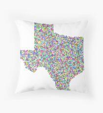 Texas flag-colorful Throw Pillow