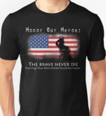 Honor Our Heroes On Memorial Day Unisex T-Shirt