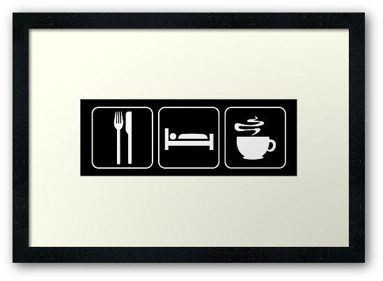 Food Sleep Coffee by Pixelchicken