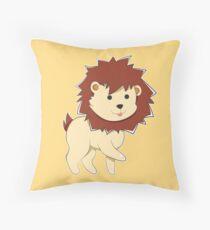 Happy Cartoon Baby Lion Throw Pillow