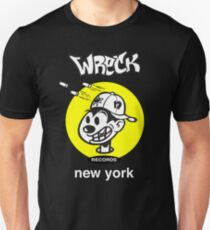 Wreck Records  - yellow logo Unisex T-Shirt