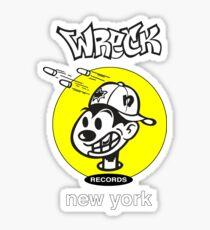 Wreck Records  - yellow logo Sticker