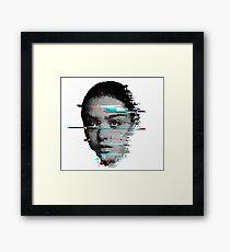 Girl (Glitch) Framed Print