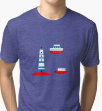 Sea, ships, lighthouses Tri-blend T-Shirt