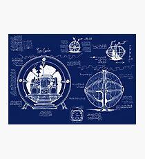 Time Machine Blueprints Photographic Print