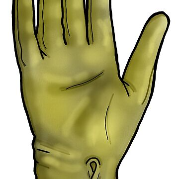Talk To The Hand (Yellow) by sianbrierley